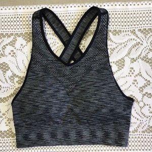 Move Basic grey and black sports bra.
